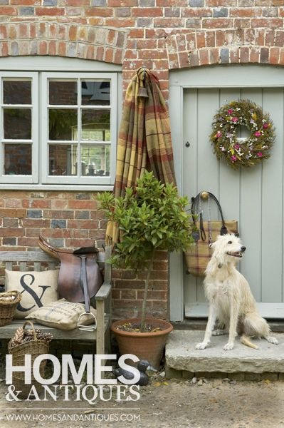 Cosy country style. Mix mineral colours with brights to create an elegant rural charm.