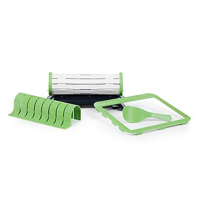 Look what I found at UncommonGoods: sushi quik... for $34.95 #uncommongoods  If you can't find a sushi mat or just have trouble rolling it, this is a cool way to learn and practice.