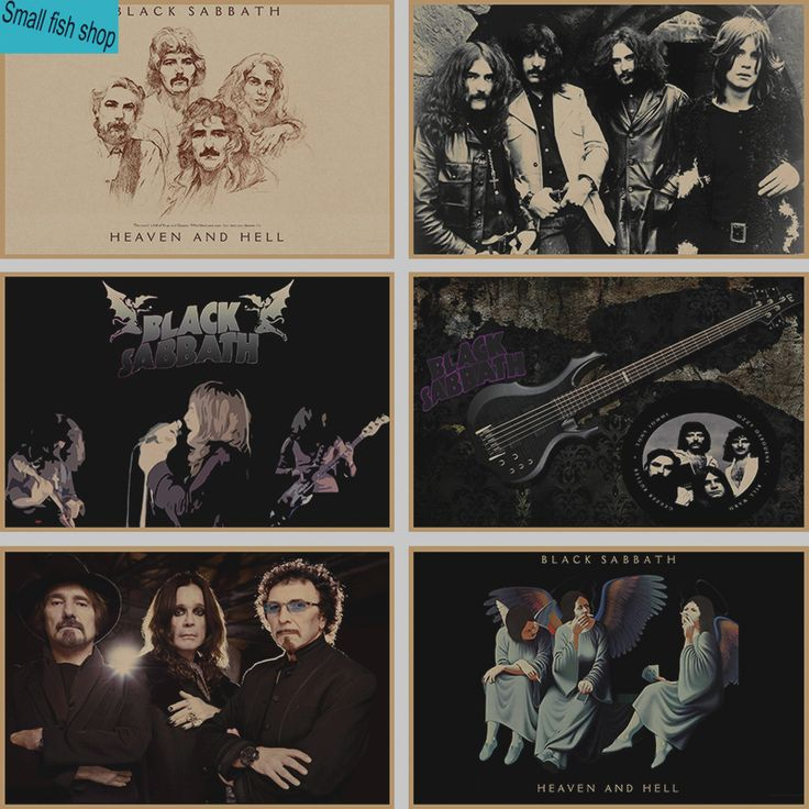 Black Sabbath Home Furnishing decoration Kraft acid rock music Poster Drawing core Wall stickers * Want additional info? Click on the image. #HomeDecor