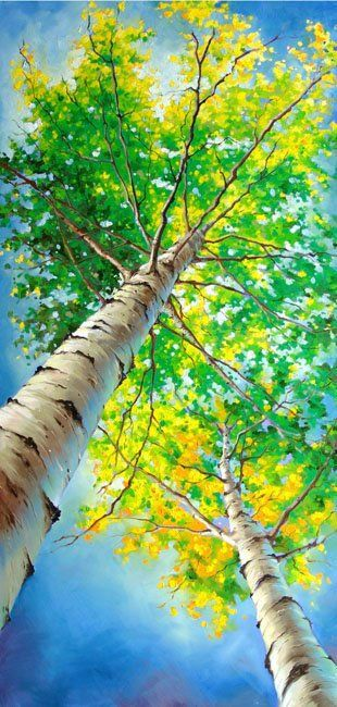 "Love the perspective and use of color: ""Living in the Green Wood"" - oil by ©Ivan Alifan (WindFineArtGallery)"