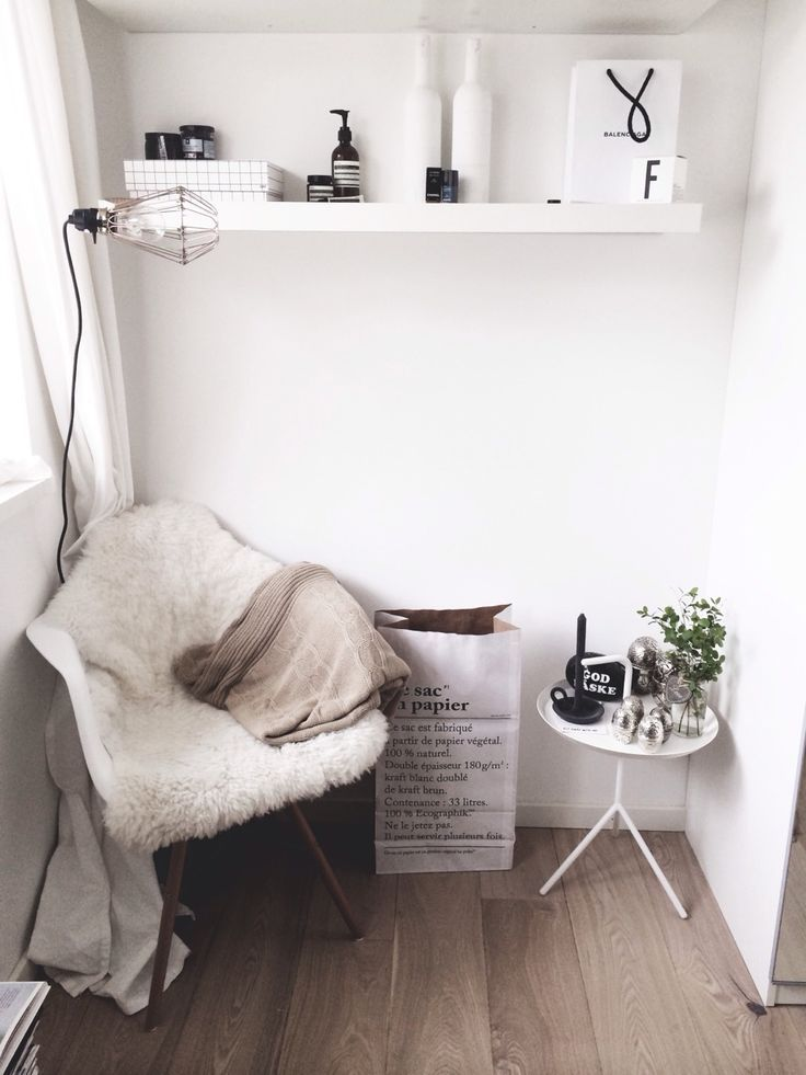 Love this idea of making a little relaxing place in the corner of a room. Source: thedecorlove