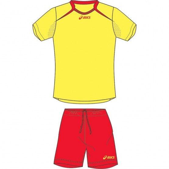 Asics Set-Dribbling mez szett sárga,piros junior 164