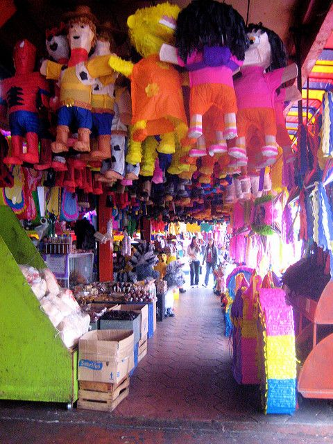 Best part of TJ when i would spend my summers there. Pinatas in the Marketplace -Tijuana, Mexico
