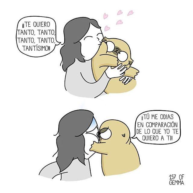 Por 157ofgemma Pelaeldiente Comics Caricaturas Vinetas Graphicdesign Funny Arte Ilustracion D Mama De Perro Perros En Caricatura Amor De Perro