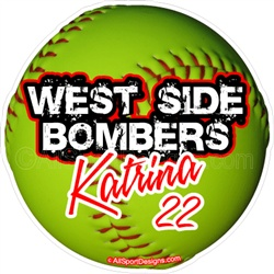Best Softball Car DecalsTShirtsMagnetsWall Decals Images On - Car magnets for sport fundraiser