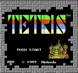 Tetris (NES) start screen 1989. This game was crazy popular back then.