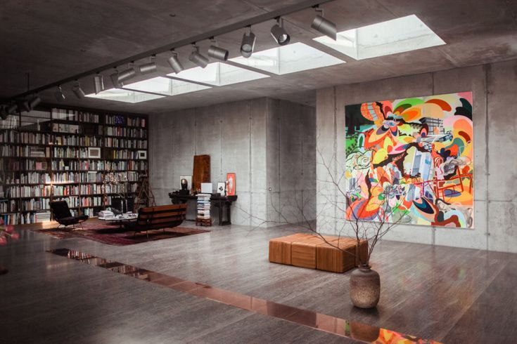 Nazi Air-Raid Shelter. This Berlin penthouse belongs to Christian Boros, the art collector whose private collection is stored and exhibited in the depths of the concrete building, which was built in 1942 as a Nazi air raid shelter.