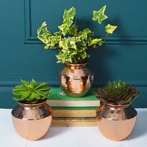 MiaFleur | notonthehighstreet.com | Copper Plant Pot | Trend | Urban Garden | Get The Look | Original | Contemporary | Warehouse Home Design Magazine