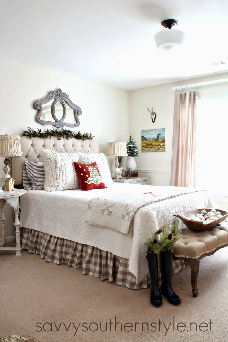 Savvy Southern Style: French Style Guest Room Christmas · Southern DecoratingChristmas  BedroomCozy ... Part 80