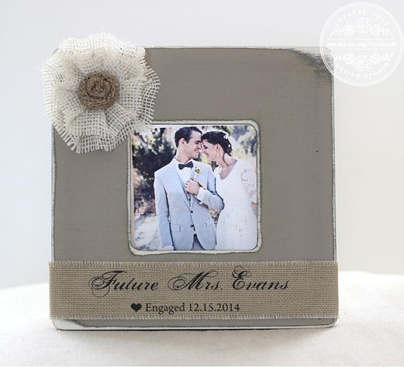 Engagement Gift Engagement Frame Wedding Gift by CrystalCoveDS $27.95