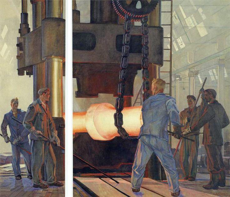 Alexander Deineka - Blacksmiths, 1957