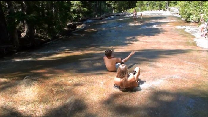 This Little Known Natural Waterslide In Idaho Will Be Your New Favorite Summer Destination - Priest Lake State Park waterslide at Lion Head