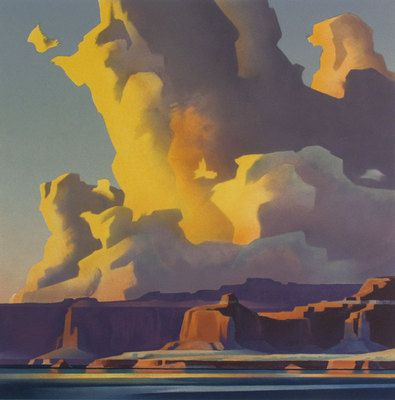 Ed Mell - Towering Clouds, Lake Powell - lithograph - I like the palette and the composition.
