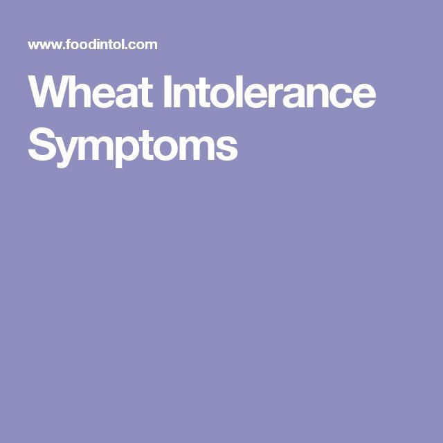 Wheat Intolerance Symptoms