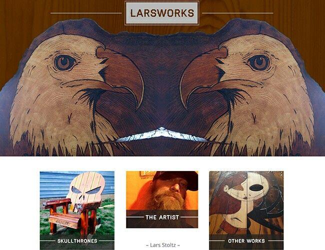 Larsworks website by Airdrie Web designer Kreativekekeli.com.   Visit site at http://www.larsworks.com