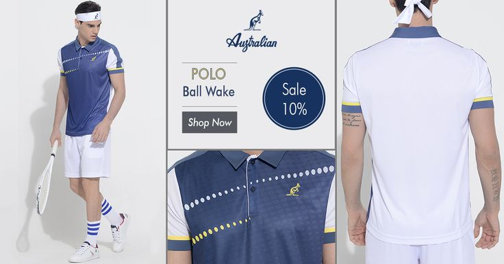 Try the feeling of the speed on your skin. Wear our #BallWake line and live #tennis at any level.  Check it out here: http://bit.ly/2cNMYzZ  #Australian #menswear #newcollection #2016 #outfit #ball #lines