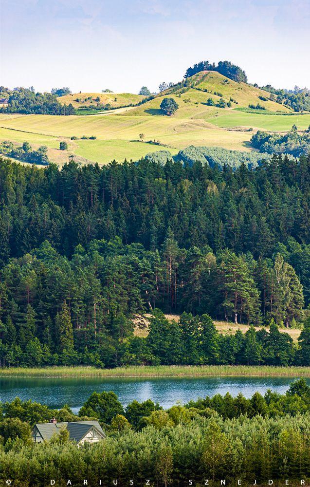 lake Kojle, mountain Cisowa, Suwalki Landscape Park, Suwalski Park Krajobrazowy, Suwalszczyzna, Poland