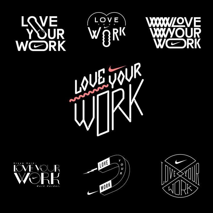 Typography inspiration. Type TreatmentsNike LogoTypography ...