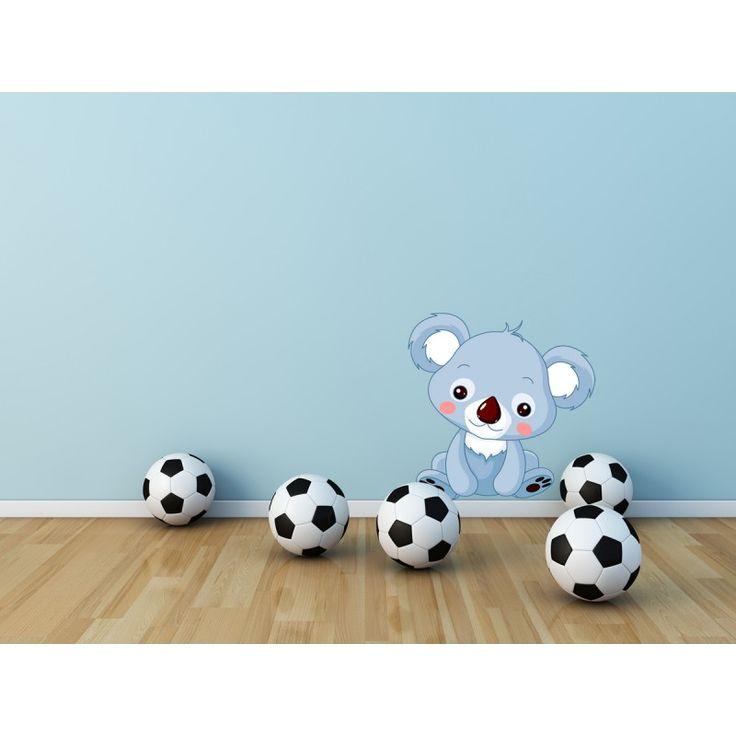 Stickers Petit Koala, Sticker Koala Bleu, Stickers Chambre Enfant, Autocollant Animaux Mignons, sticker pas cher : Deco Soon