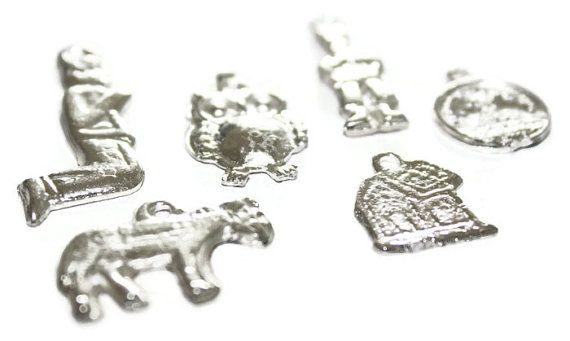 Mexican Milagros Charms Silvertone Jewelry Altars Shrines