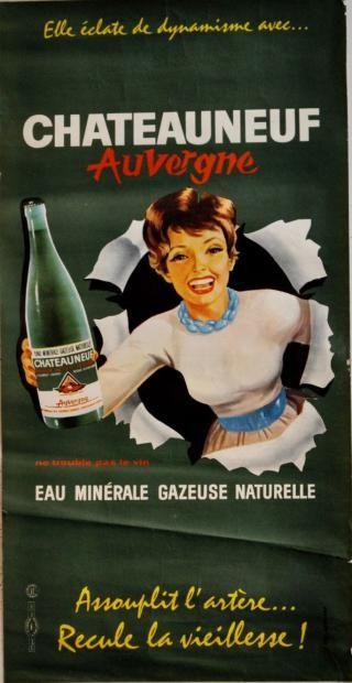 Chateauneuf - eau minérale gazeuse - 1950's - (Gaillard) -