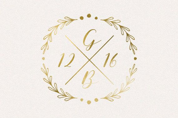 Wedding Monogram Wedding Logo DIY wedding von TheFabledPapery