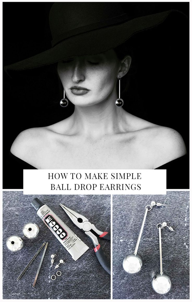 I re-purposed a $6 Kmart necklace to make these simple minimal drop earrings. Extremely easy to make you can whip up a pair for yourself in 5 minutes.