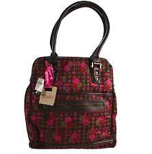 Dakine GWEN POSIES Brown Pink Red Floral Zipper Closure Shoulder Purse