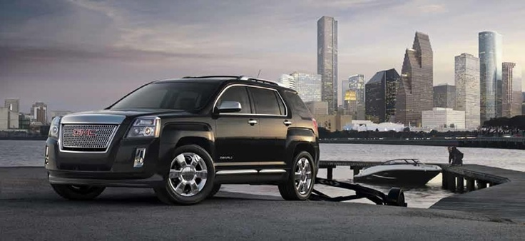 2013 GMC Terrain Denali Luxury Small SUV Review. In the 2013 GMC Terrain Denali, GMC crossover buyers will finally be able to justify the V-6 engine upgrade now that a 301-hp 3.6-liter V-6 sits under the hood, replacing GM's outdated 3.0-liter unit. The Terrain Denali also features a number of aesthetic details that distinguish it from non-Denali Terrains.