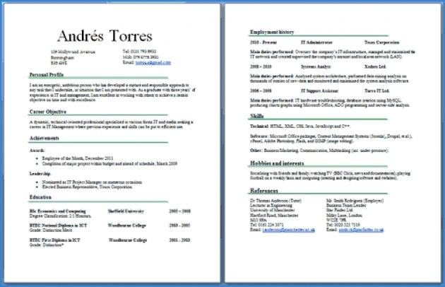 Resume Examples 2 Pages Good Resume Examples Resume Examples One Page Resume Template