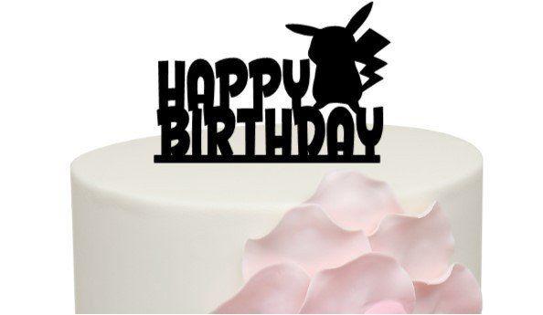 Pokemon Happy Birthday Cake Topper