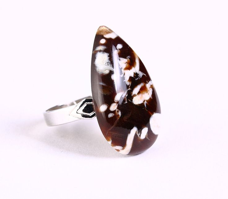 Khalliah Design - Unique natural Peanut Wood Jasper adjustable silver ring OOAK, $25.00 (http://www.khalliahdesign.com/unique-natural-peanut-wood-jasper-adjustable-silver-ring-ooak/)