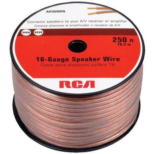 RCA AH16250SN 16-Gauge 250 Feet Speaker Wire By RCA. $35.99. RCA AH16250SN 16-Gauge Speaker Wire