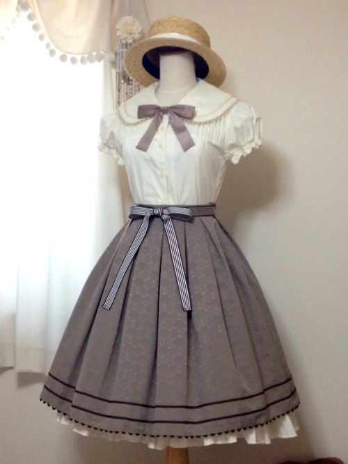Lolita fashion Sailor Doll Skirt and Marine Blouse OP by Victorian maiden #Lolita #lolitafashion