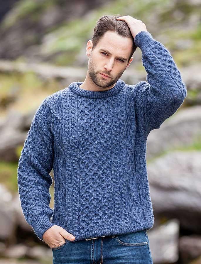Мужской свитер спицами картинки