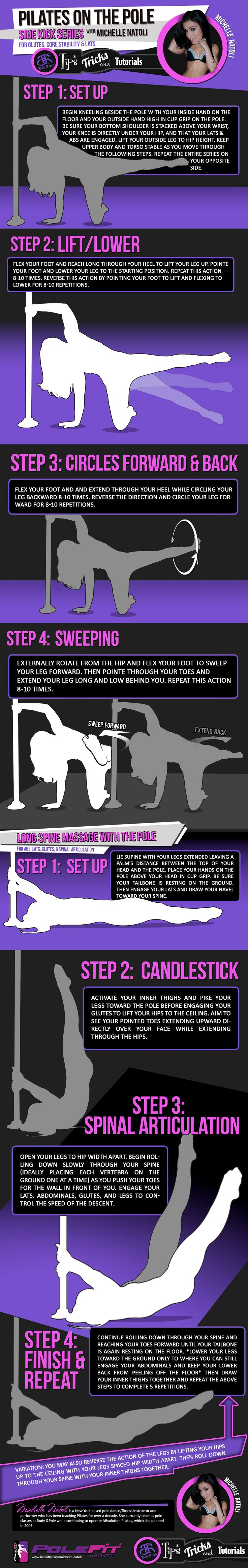 PoleFit® Tips & Tricks Pilates on the Pole with Michelle