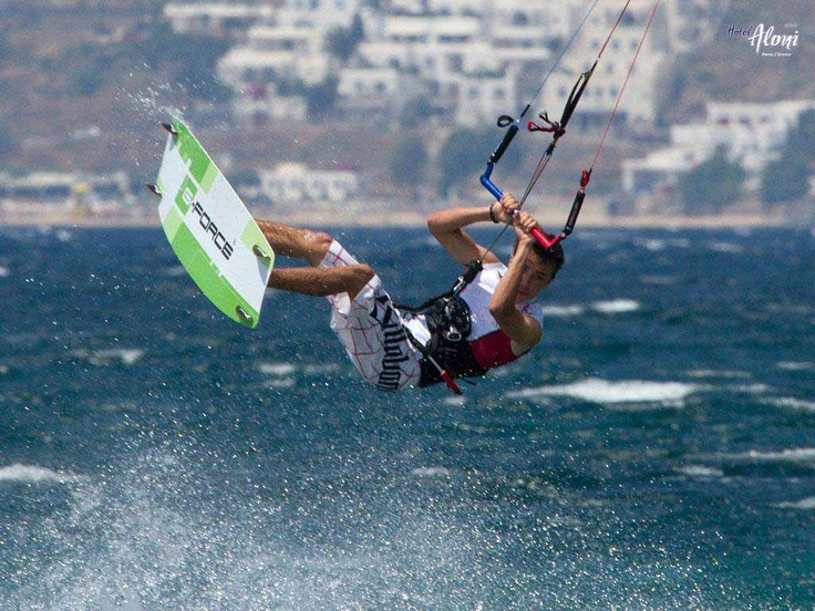 Kite surfing on Paros Island! #Cyclades #Greece #summer
