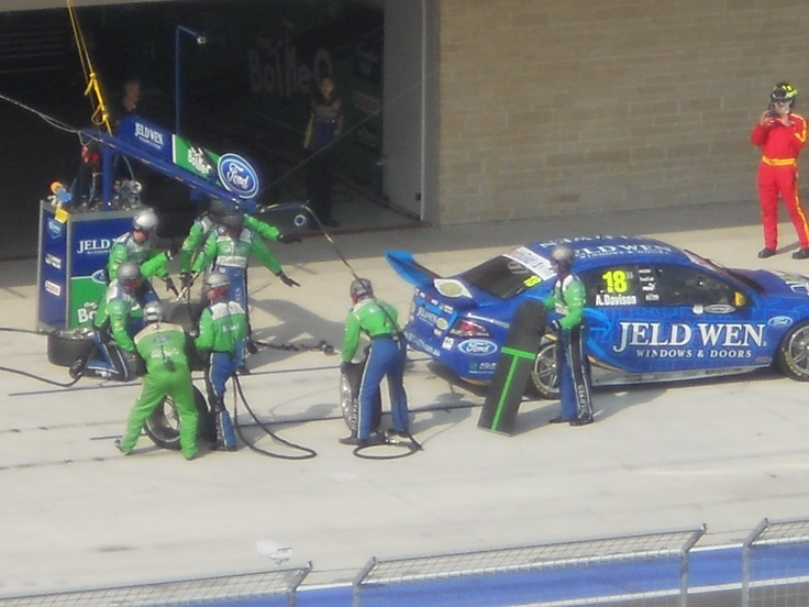 Pit stop for @V8Supercars Official Official at #Austin400 so fast I sat for the shot and was too late! AWESOME! #V8SC