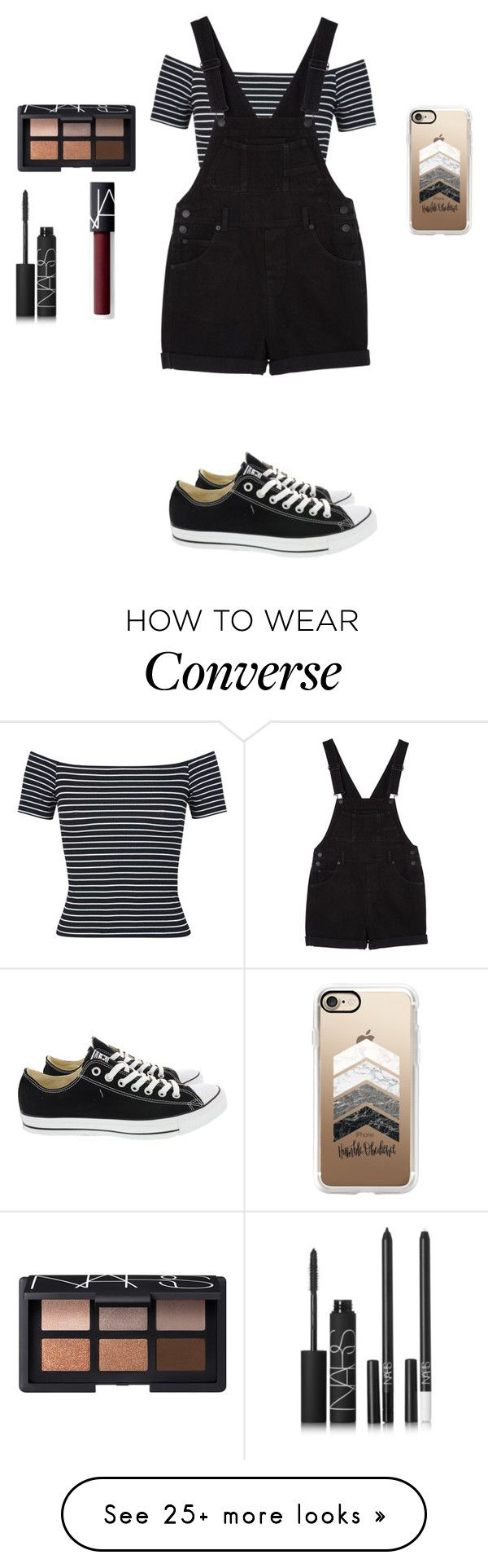 """❤️"" by smoorestsweet on Polyvore featuring Miss Selfridge, Monki, Converse, NARS Cosmetics and Casetify"