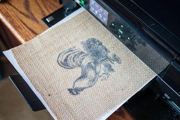 Printing on Burlap + {Printable}