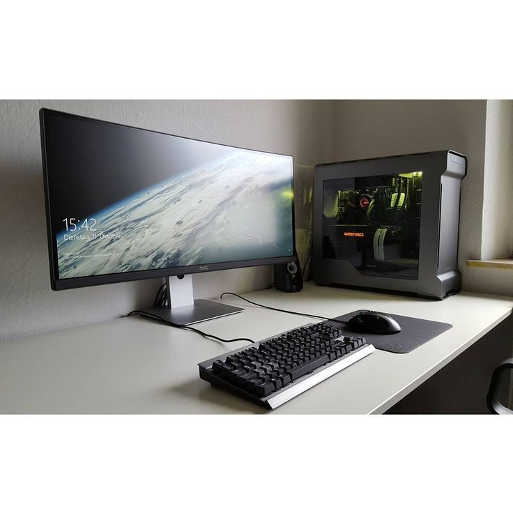 306 best images about home office on pinterest desktop for Cool office setups