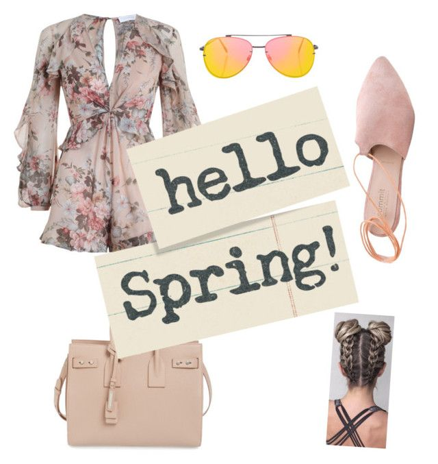 """""""spring on style"""" by megan-osh on Polyvore featuring Zimmermann, Yves Saint Laurent, Summit and Topshop"""