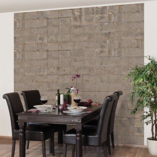 fototapete betontapete ziegel tapete beton vliestapete premium quadrat tapete betonoptik shabby grau braun - Steinwand Grau