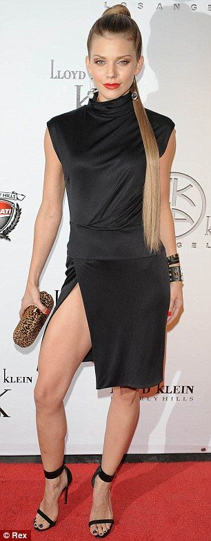 Look familiar? AnnaLynne McCord takes her red carpet cues from Angelina Jolie