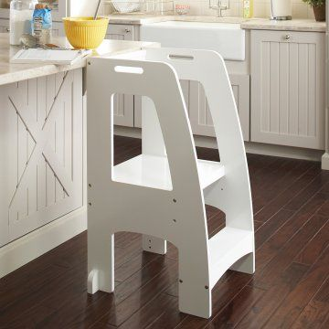 Guidecraft Step Up Kitchen Helper - White - Kids Step Stools at Hayneedle : toddler step stool - islam-shia.org