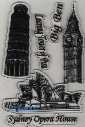 Tampon transparent Londres Big ben, Sydney Australie L' opéra House, Italie la tour de Pise  3 pièces pour la décoration de vos cartes de remerciement, carton de bienvenue. https://www.alittlemercerie.com/tampons-et-encres/fr_tampon_transparent_big_ben_sidney_pise_pour_decoration_3_pieces_-9230433.html