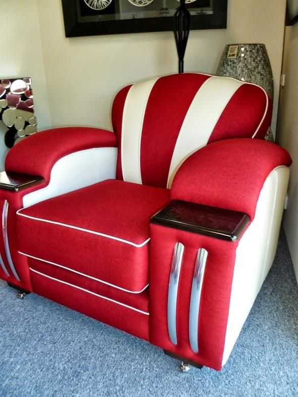 Sofa Beds HOLLYWOOD lounge suite fully sprung seats backs arms and cushions all made on Art Deco