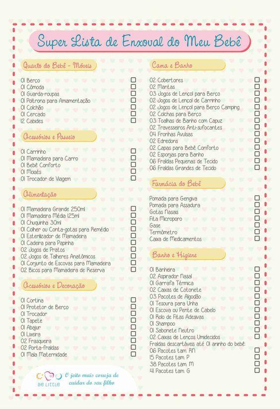 Super Lista de Enxoval: