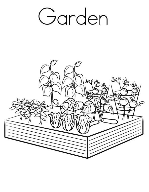 Gardening Coloring Pages For Kids KidsFull Size Image