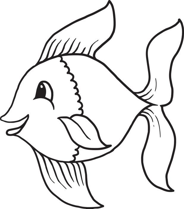 Free Coloring Pages Of Cartoon Fish